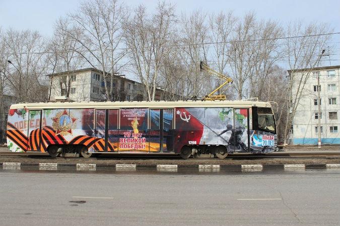 В Ульяновске украсили трамваи